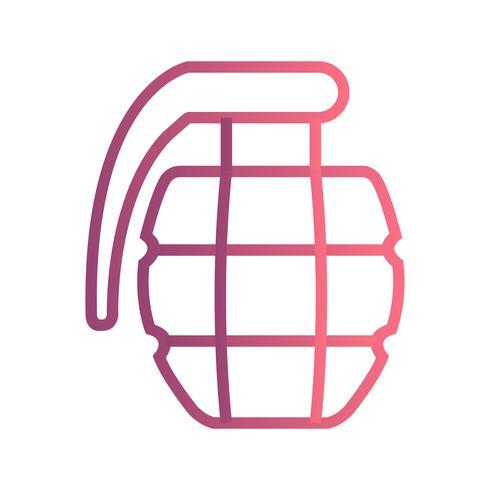 Icono de vector de granada
