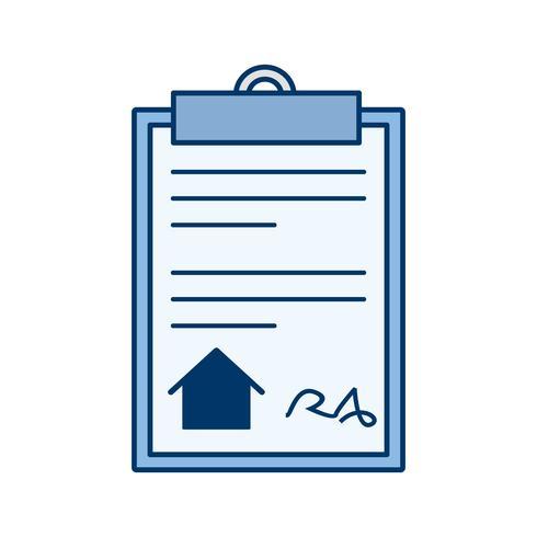 icône de vecteur de document maison