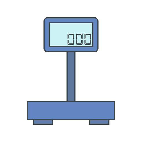 Ícone de máquina de peso de vetor