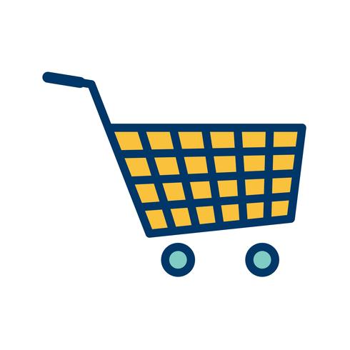 Icône de panier de magasinage de vecteur