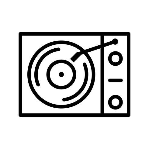 Reproductor de vinilo Vector Icon