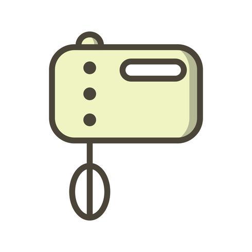 Icona di vettore del miscelatore di cibo