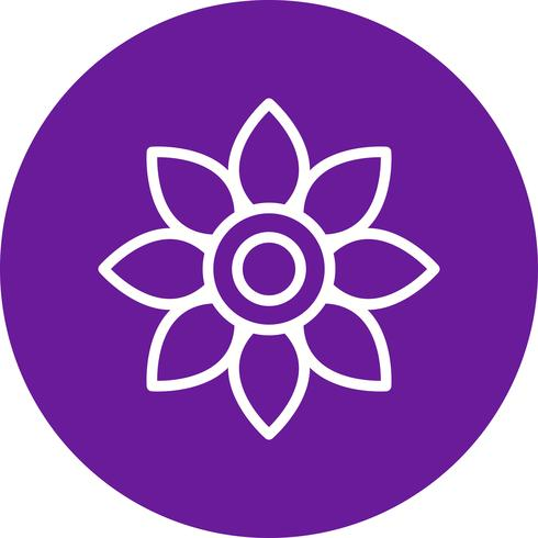 Blumen-Vektor-Symbol