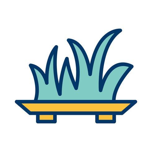 Ícone de vetor de grama