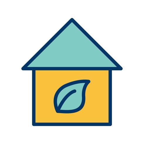 Eco Home Vector Icon