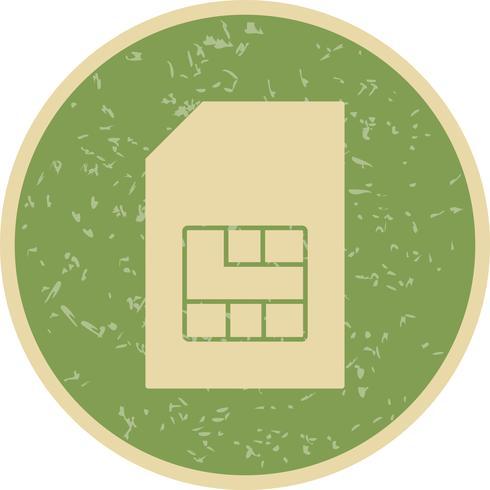 icône de vecteur sim