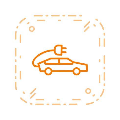 Icône de vecteur de voiture électrique