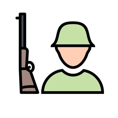 Icône de vecteur de soldat