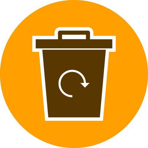 Reciclaje de basura Vector icono