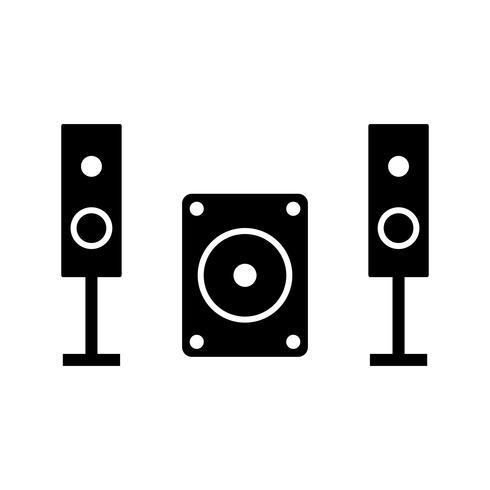 Icona del sistema musicale vettoriale