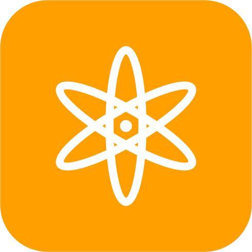 Icône de vecteur d'atome