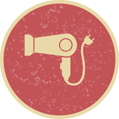 Icona di vettore di asciugacapelli