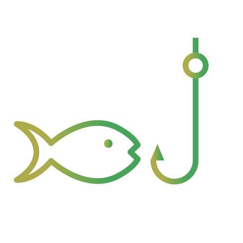 Icône de vecteur de pêche