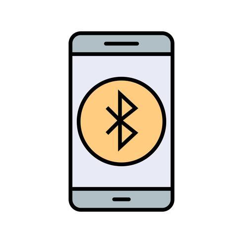 Bluetooth-Anwendungs-Vektor-Symbol