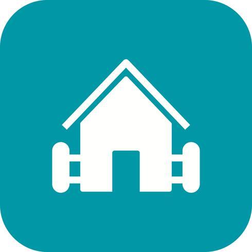 Boerderij huis vector pictogram