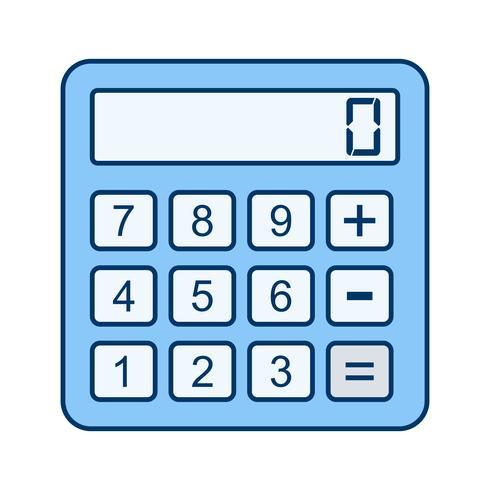 Icône de calculatrice de vecteur