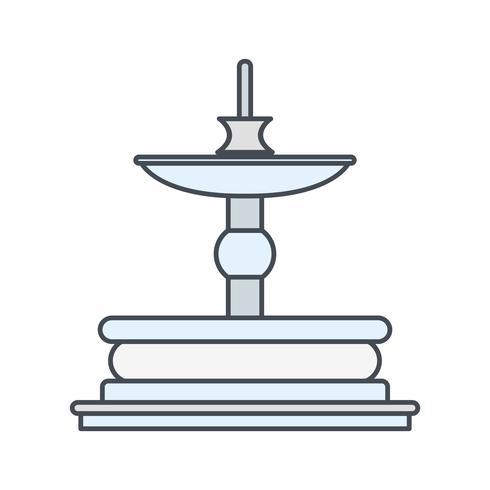 Icona di vettore di Fontana