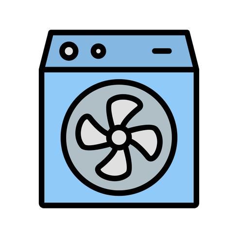 Icona di vettore del dispositivo di raffreddamento della stanza