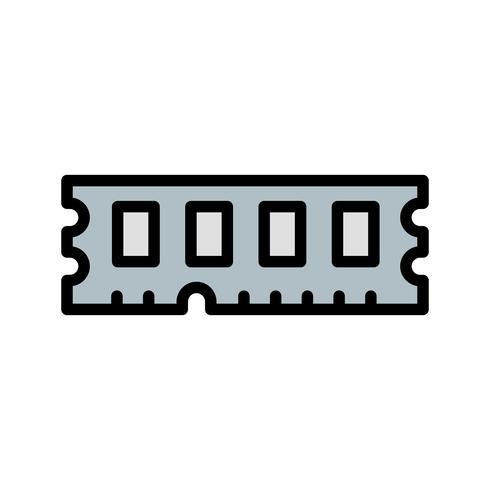 icona di vettore di ram