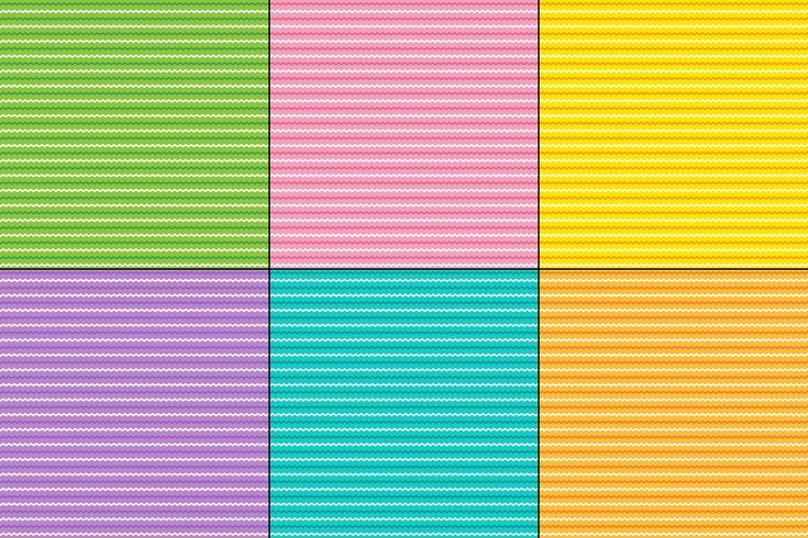Motifs de rayures zigzag de Pâques vecteur