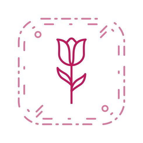 Icona di vettore del tulipano