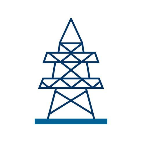 Elektrischer Turm Vektor Icon