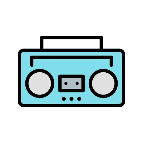 Icône de vecteur de bande audio