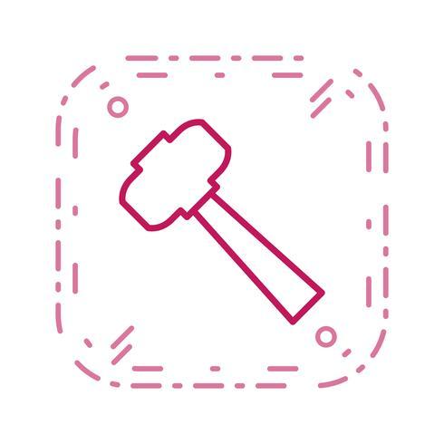 Icona di vettore del martello