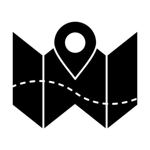 Plan kaart Vector pictogram