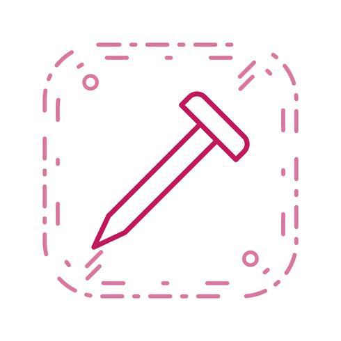 icône de vecteur de clou