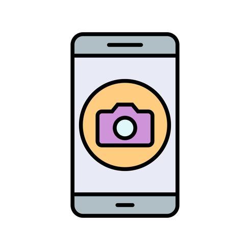 Icona di vettore di applicazione mobile della fotocamera