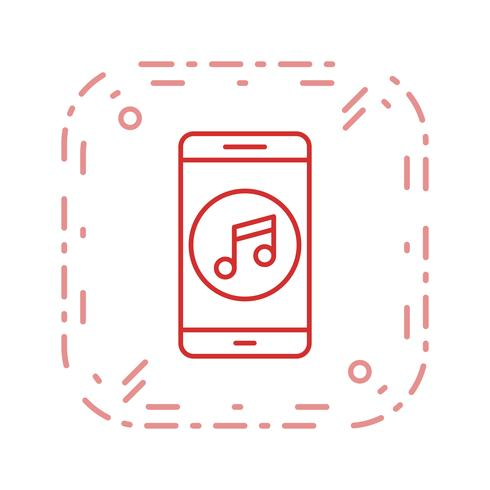 Music Mobile Application Vector Icon