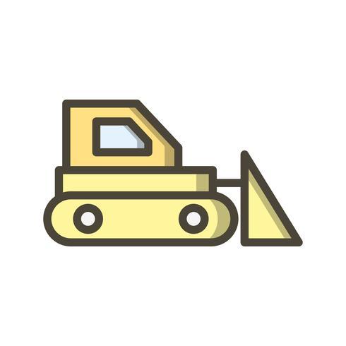 Icona di vettore del bulldozer