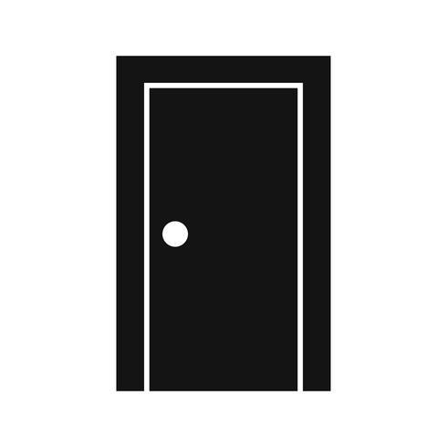Ícone de vetor de porta