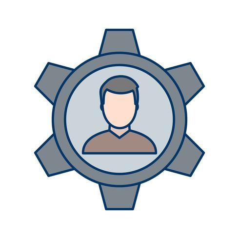 Icône de vecteur de gestion