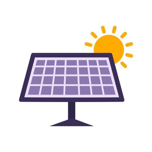 Icona di vettore del pannello solare