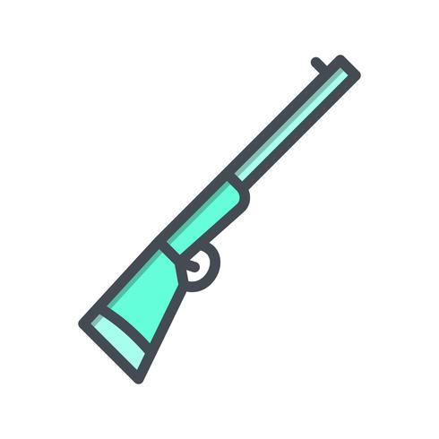 Icona di vettore del fucile da caccia