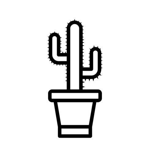 Icona di vettore del cactus