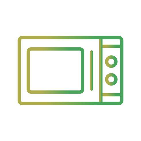 Icône de vecteur de four à micro-ondes