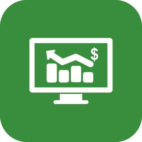 Icono de Vector de gráfico de negocios