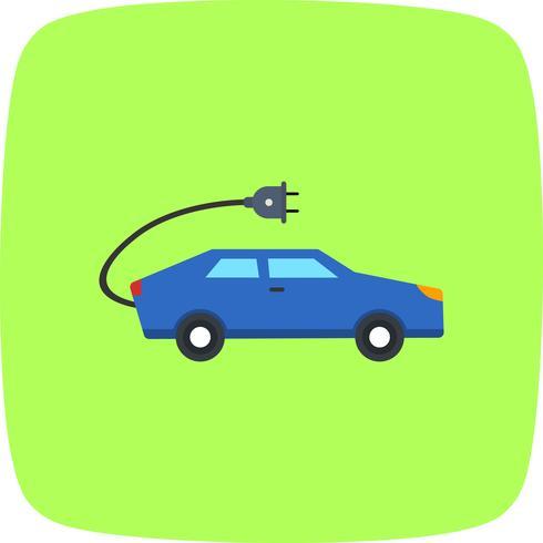 Elektrisk bil vektor ikon