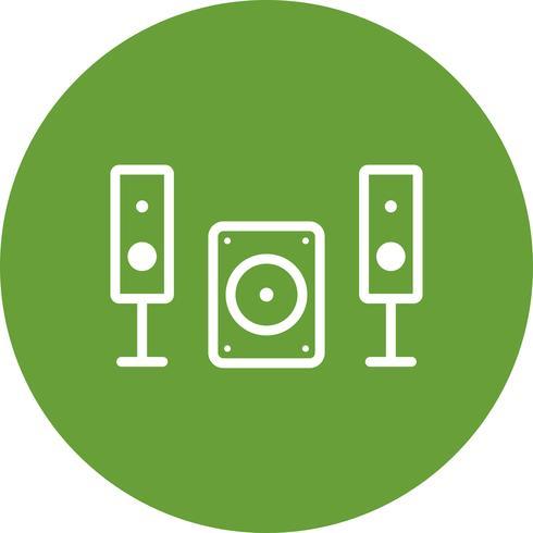 Musik System Vektor Icon