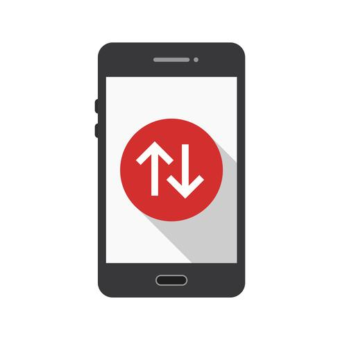 Icône de vecteur d'application mobile de connexion de données