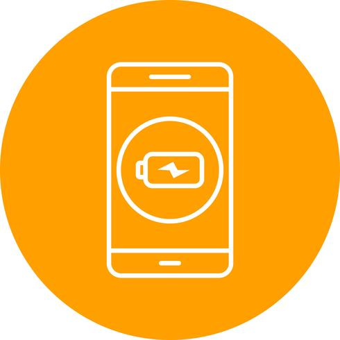 Charging Mobile Application Vector Icon