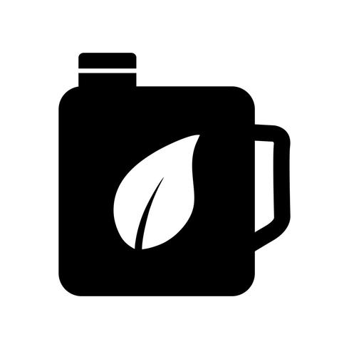 Eco olie vector pictogram