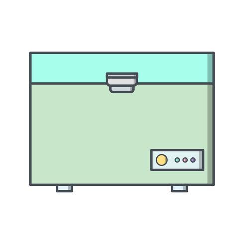 Ícone de vetor de congelador