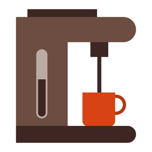 Icona di vettore del creatore di caffè