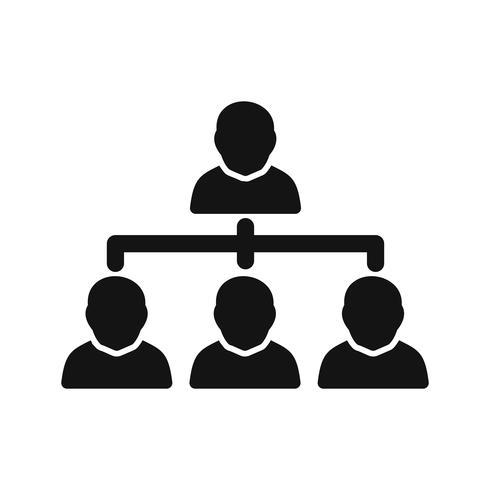 Icona di vettore di organizzazione