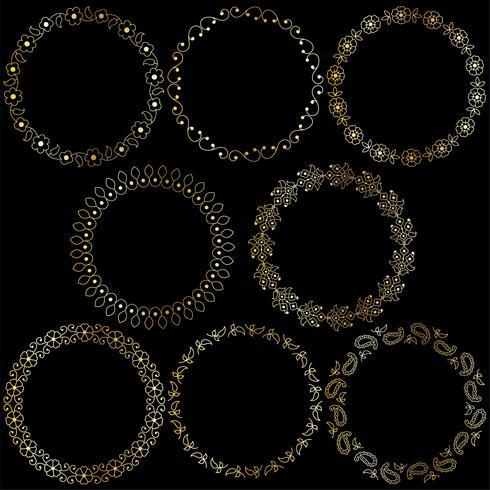 gouden paisley frames