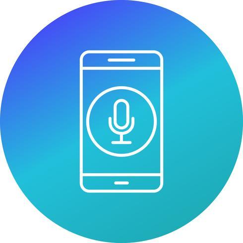 Icona di vettore di applicazione mobile del microfono